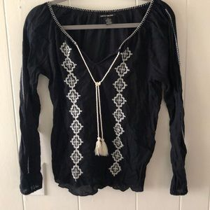 Lucky brand bohemian blouse